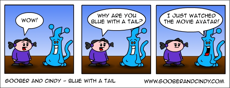 blue-with-a-tail